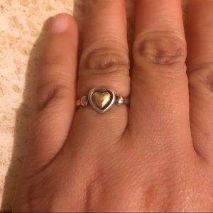 James Avery True Heart 14K Retired Ring